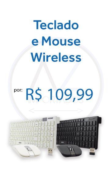 Teclado e Mouse Wireless