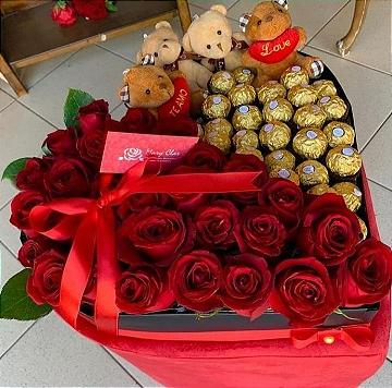 Coração De Ferrero e Rosas