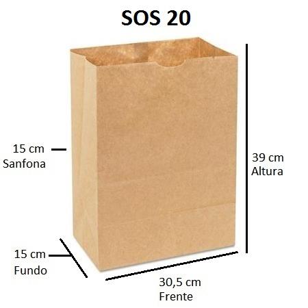 Sacos Delivery SOS 20 Impresso