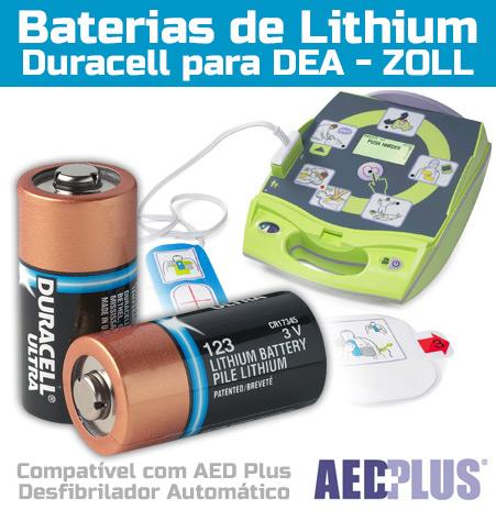 Bateria Lithium Duracell para DEA Zoll
