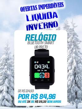 Banner Lateral (LiquidaInverno) RELÓGIO BLUETOOTH SMART U8 PRETO