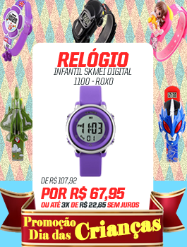 Banner Lateral (Crianças) RELÓGIO INFANTIL SKMEI DIGITAL 1100 - ROXO