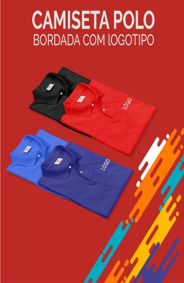Camiseta Polo Piquet Bordado com Logotipo