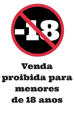 Venda Proibida a menores de  18 anos