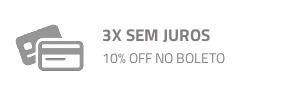 3 X SEM JUROS