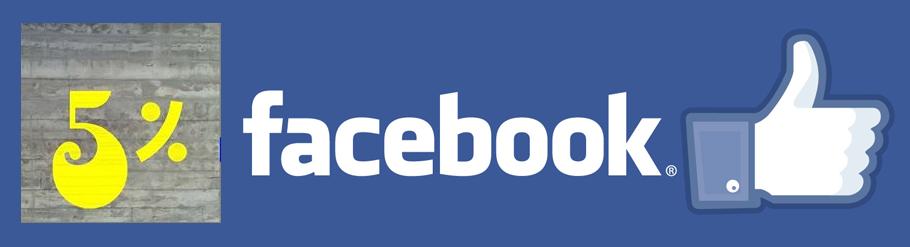 5% Facebook