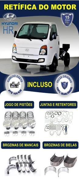Retífica de motor Hyundai HR Rw Motores