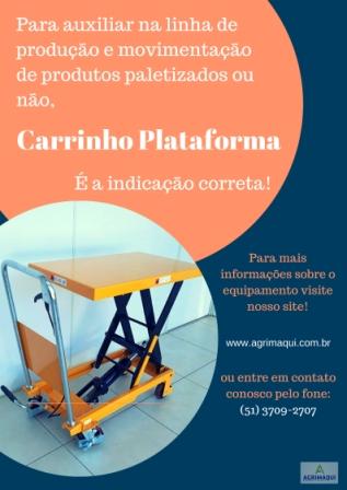 mesa plataforma pantográfica manual