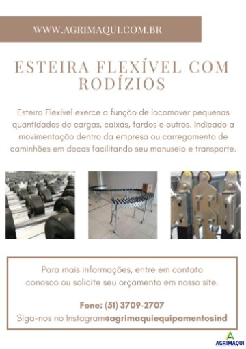 esteira FLEXÍVEl com rodízios 20 x 30