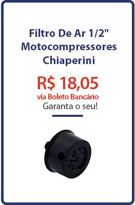 """Filtro De Ar 1/2"""" - Motocompressores - Chiaperini"""