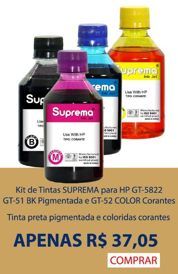 Tinta HP GT5822