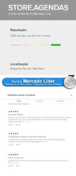 Líder em vendas de Agenda Planner no Brasil