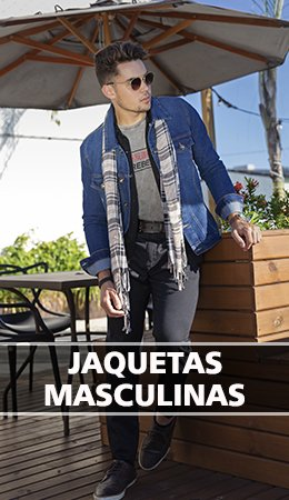 Banner Jaquetas Masculinas - Inverno 2019