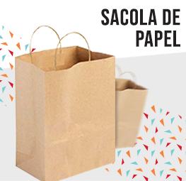 sacolas de papel lateral