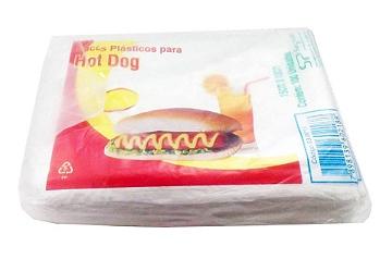 Saco plástico p/hot dog