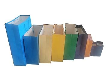 Sacolas coloridas de papel