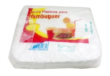 Saco plástico p/hamburquer