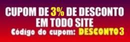 3% de desconto em todo o site