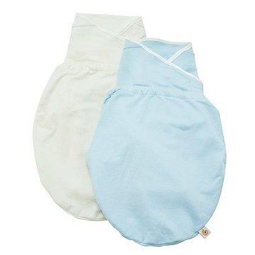 Swaddler - Cueiro Inteligente Ergobaby - Embalagem com 2 unidades nas cores: Blue e Natural (M/G)