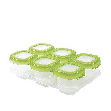 Bandeja com 6 potes de armazenamento com tampa OXOTot verde (6 x 60ml)