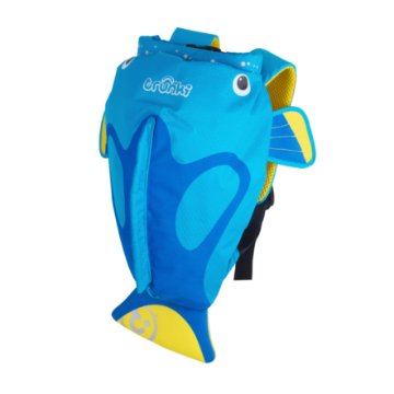 Mochila Infantil Trunki - Modelo PaddlePak - Peixe Tropical Tang - cor Azul