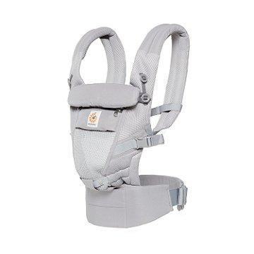 Canguru Ergobaby - Modelo Adapt  - Use desde o nascimento - Tecnologia Cool Air Mesh-Cor Pearl Grey