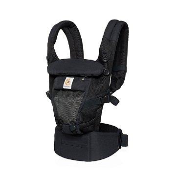 Canguru Ergobaby - Modelo Adapt  - Acompanha seu bebê desde o nascimento - Tecnologia Cool Air Mesh - Cor Onyx Black