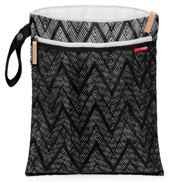 Bolsa Wet and Dry SkipHop - Linha On-The-Go - Estampa Zig Zag Zebra