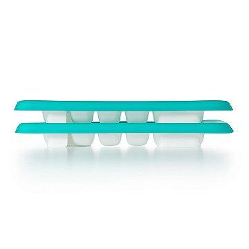 Duas bandejas com tampa de silicone para armazenamento OXOTot Verde Azulado(12 x 29ml)
