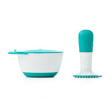Pote Amassador de Alimentos com tampa OXOtot - Verde Azulado