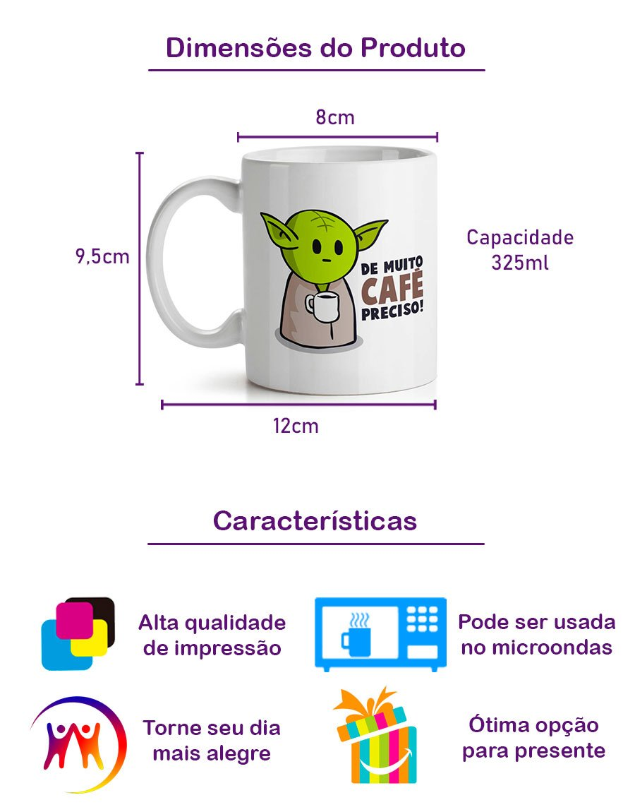 Caneca Mestre Yoda