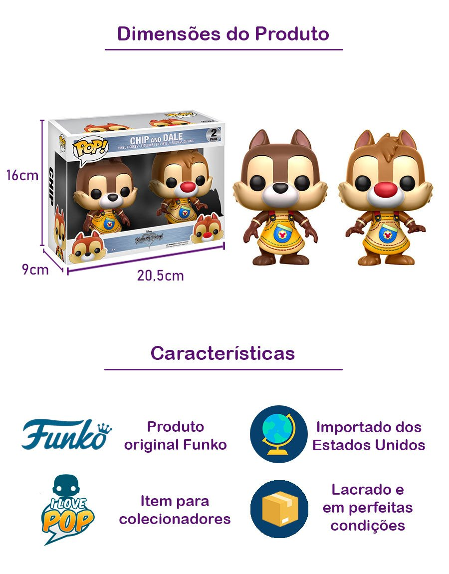 Funko POP Chip and Dale 2 Pack