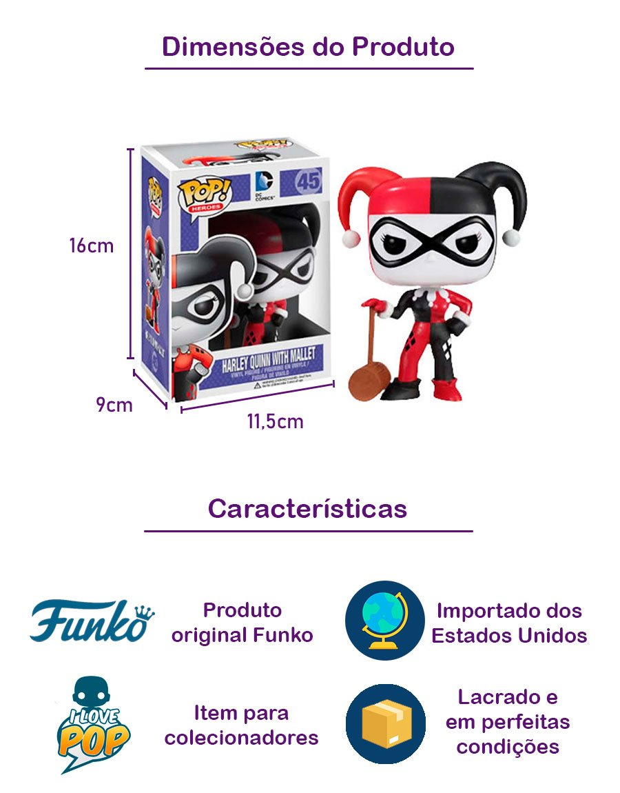 Funko POP Harley Quinn With Mallet