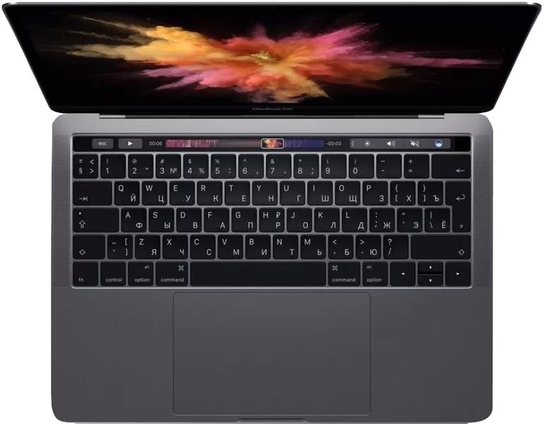 novo macbook pro touchbar
