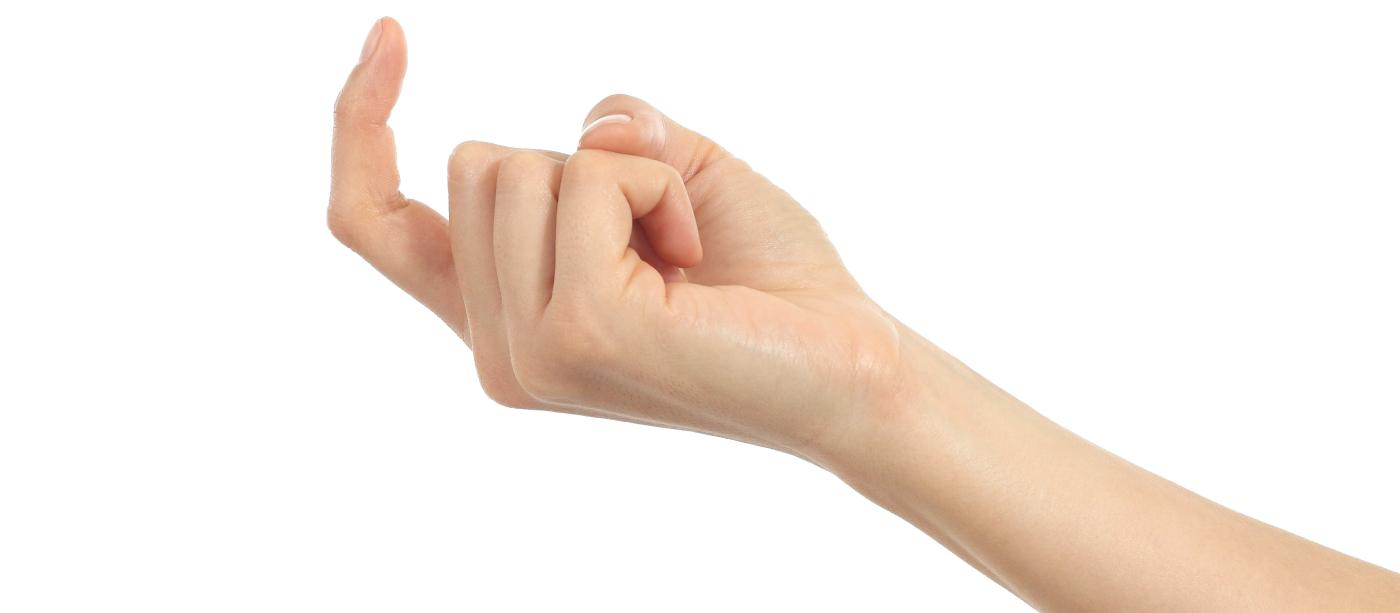 chamando com dedo