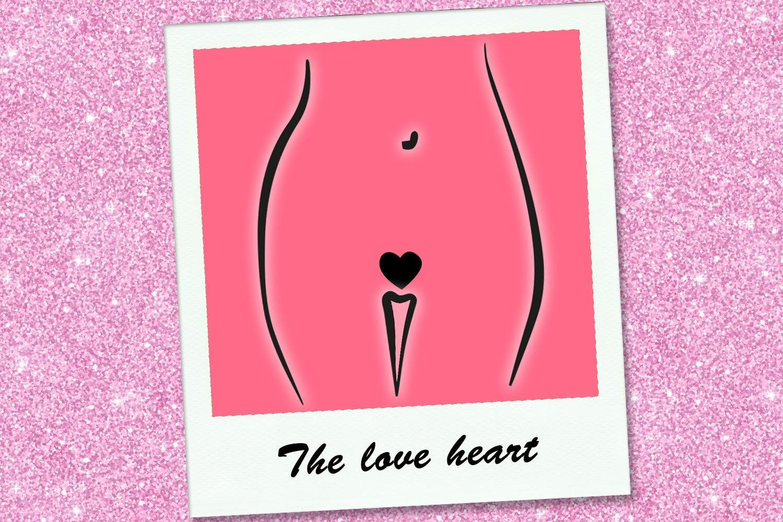 depilação íntima coração