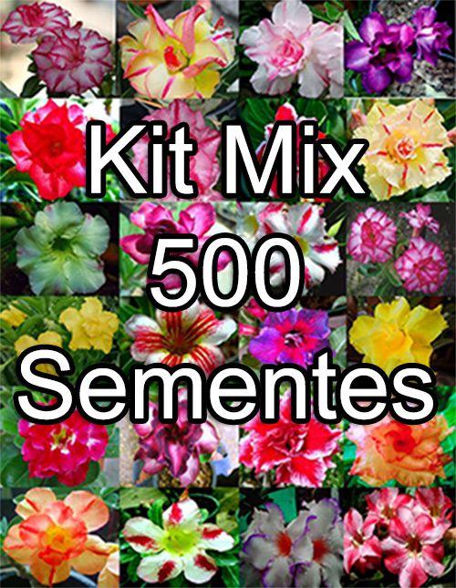 Kit Mix 500 Sementes De Rosa Do Deserto Rosa Do Deserto Valmor Prd