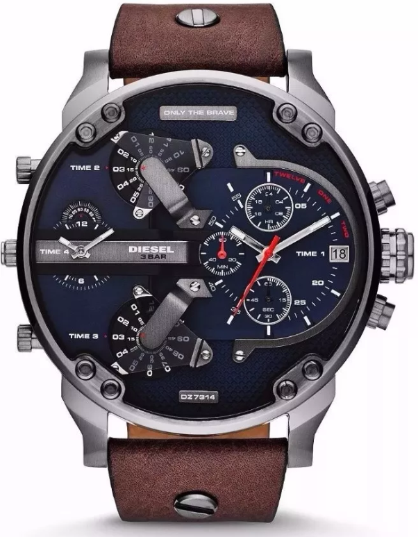 3ab17bcfbb6 Relogio Diesel DZ4291 pulseira de couro modelo Gigante - Right Style