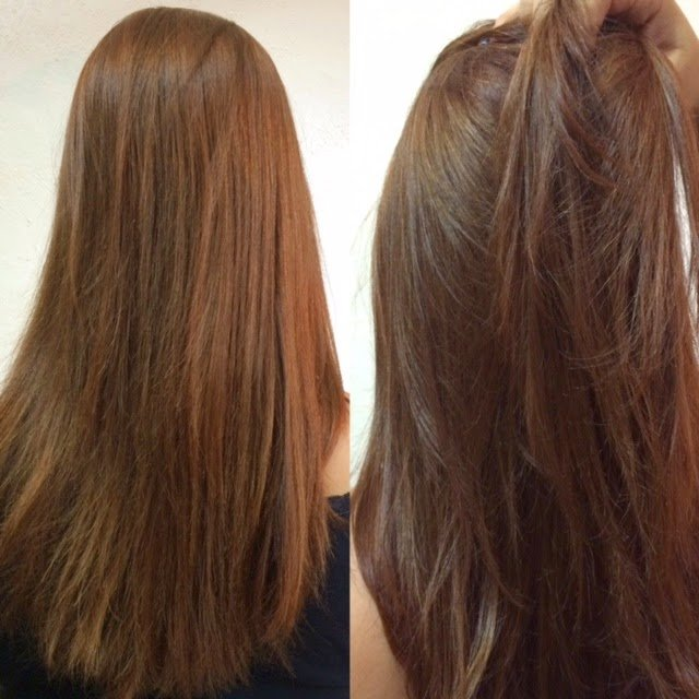 Banho de verniz salone antes e depois
