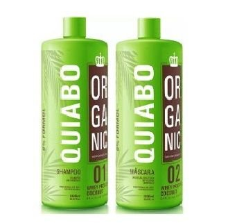 e1b40cbd6 Escova Progressiva de Quiabo Sem Formol Mundo Organic 2x1litro