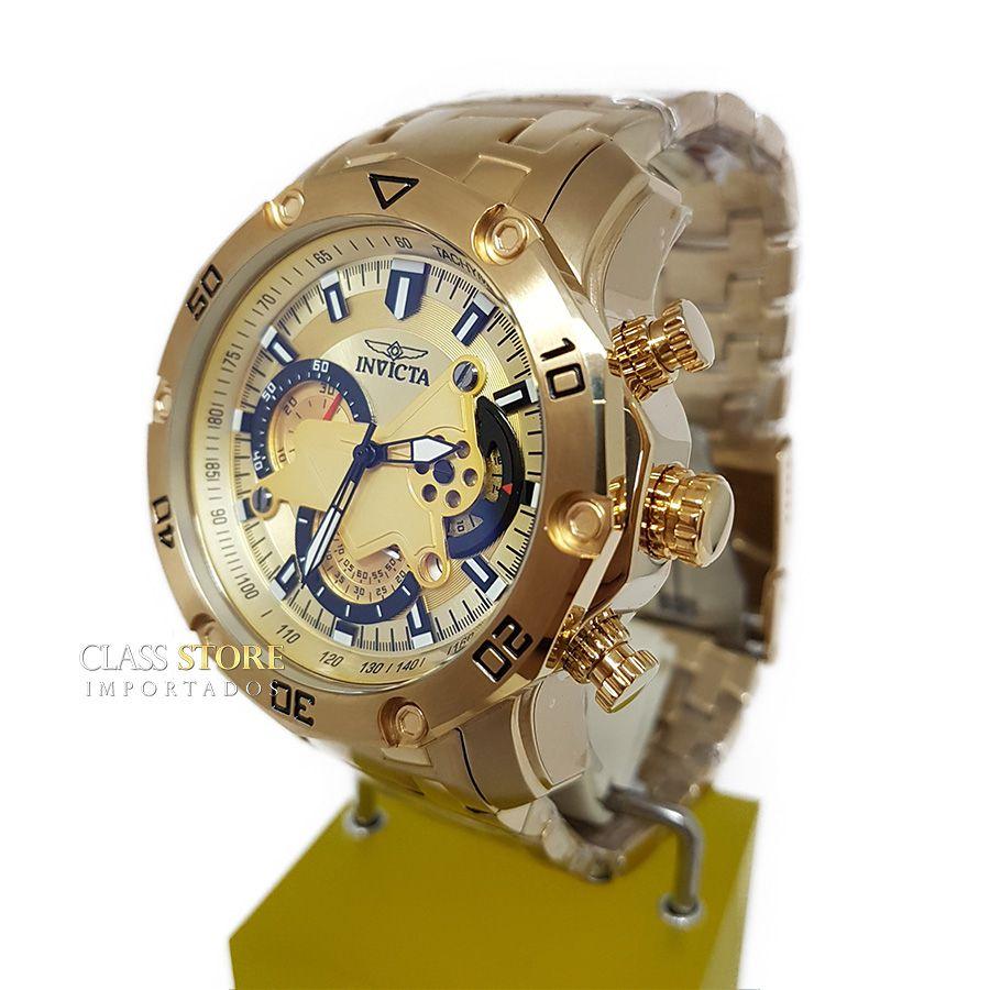 b4fdfe75cbd ... Lançamento Relógio INVICTA Pro Diver 22761 Banhado a Ouro 18k  Cronógrafo - Imagem 4 ...