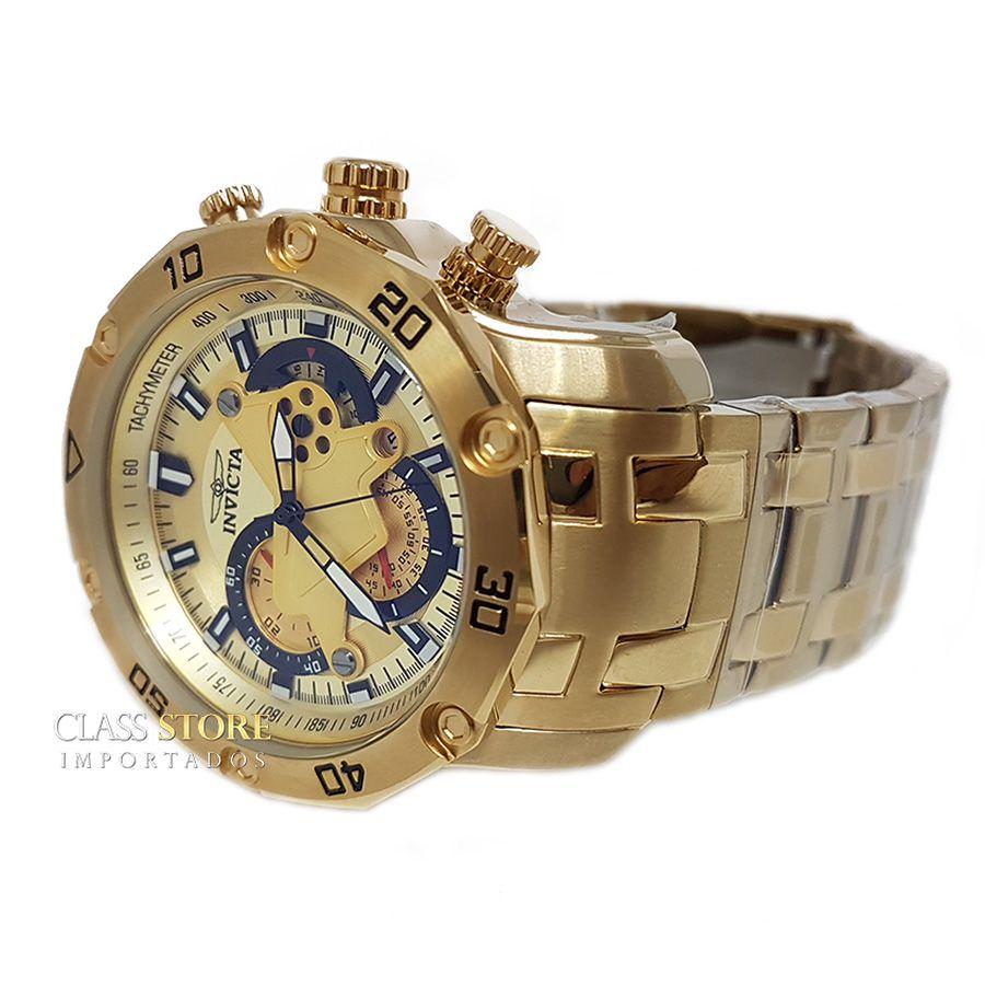 a27f6690a5b ... Lançamento Relógio INVICTA Pro Diver 22761 Banhado a Ouro 18k Cronógrafo  - Imagem 5 ...