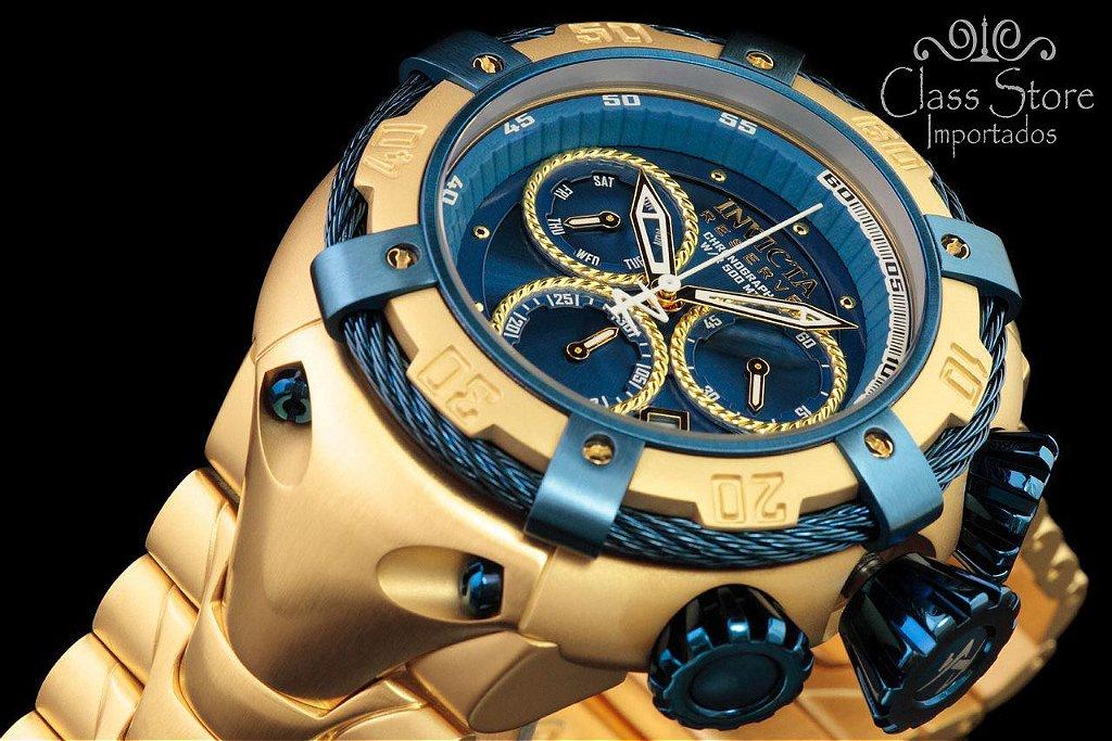 07c361efc55 ... Relógio Invicta Reserve Thunderbolt 21347 Suíço Cronógrafo Banhado a  Ouro 18Kt - Imagem 5 ...