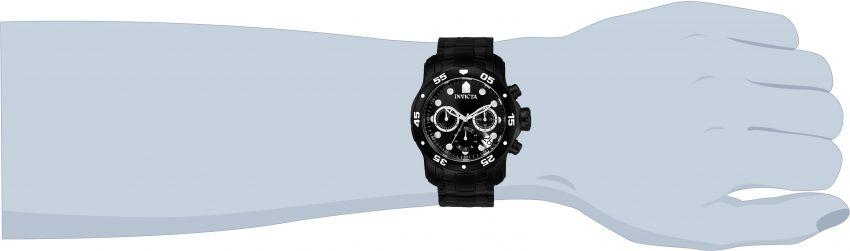 0bcf1e82bf3 ... Relógio INVICTA 0076 Pro Diver Aço Inox Preto Cronógrafo Mostrador Preto  - Imagem 3