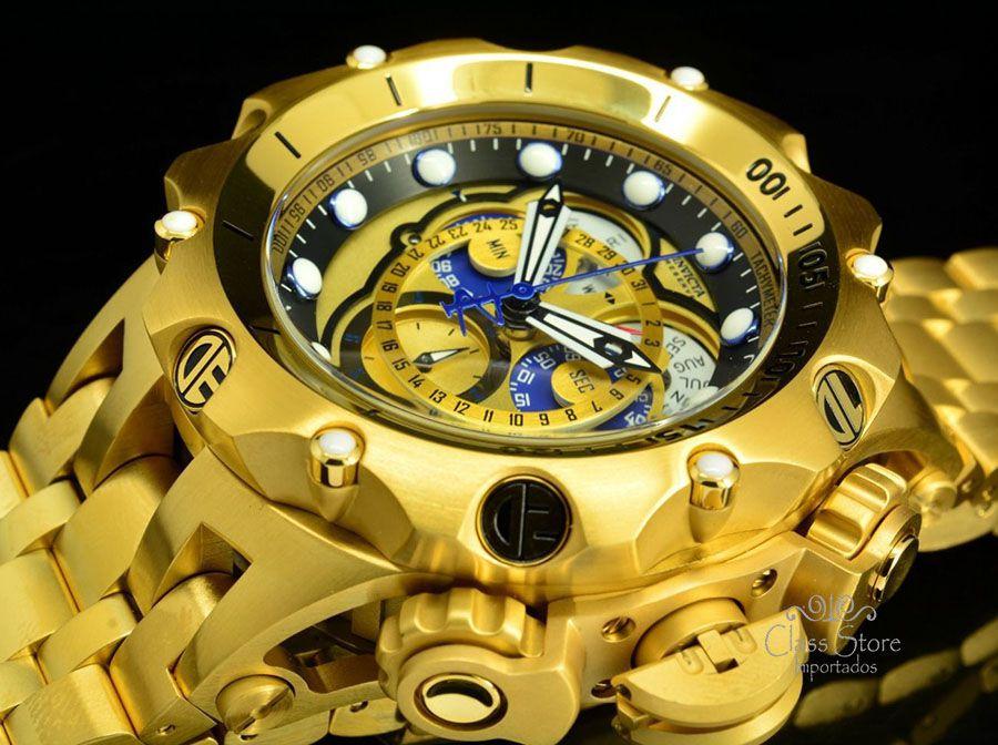 6448694a901 ... Relógio Invicta Reserve Venom 16804 Hybrid banhado a Ouro 18k Suíço  Cronógrafo Calendário Triplo - Imagem ...