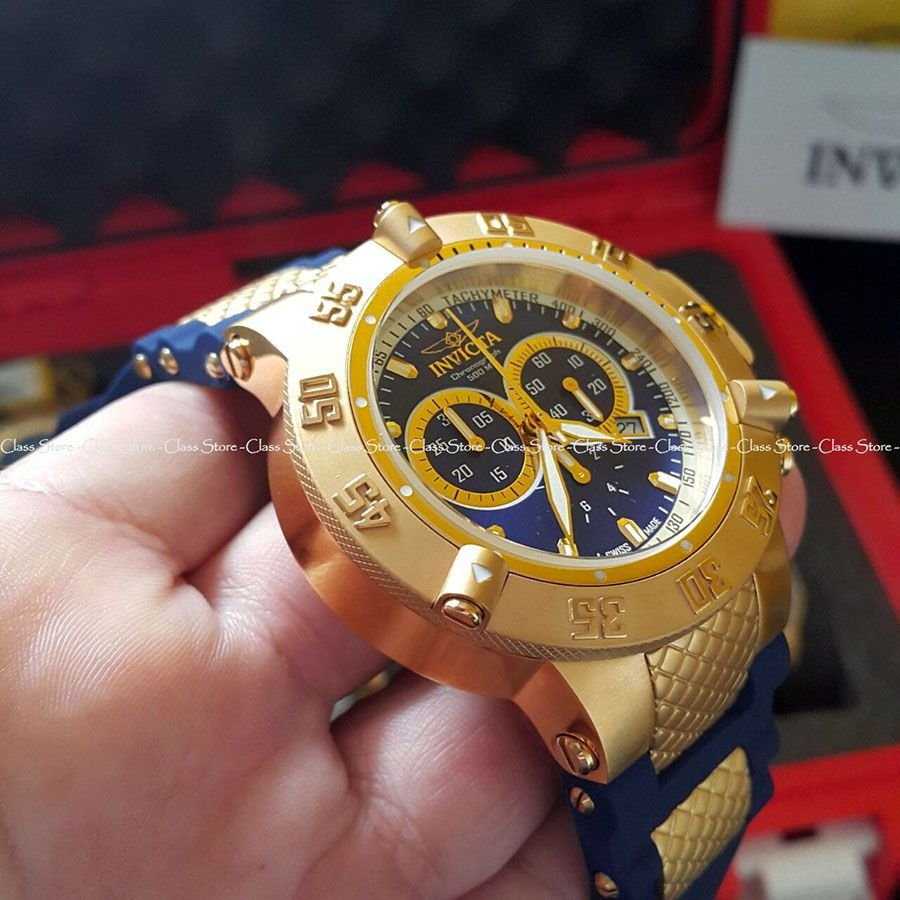 2fe3df12927 ... Relógio Invicta Subaqua Noma 3 5515 Banhado Ouro 18k Original  Cronógrafo Suíço Azul - Imagem 2 ...