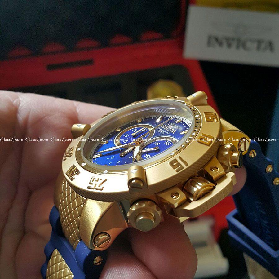 5aff03f5fd5 ... Relógio Invicta Subaqua Noma 3 5515 Banhado Ouro 18k Original  Cronógrafo Suíço Azul - Imagem 3 ...
