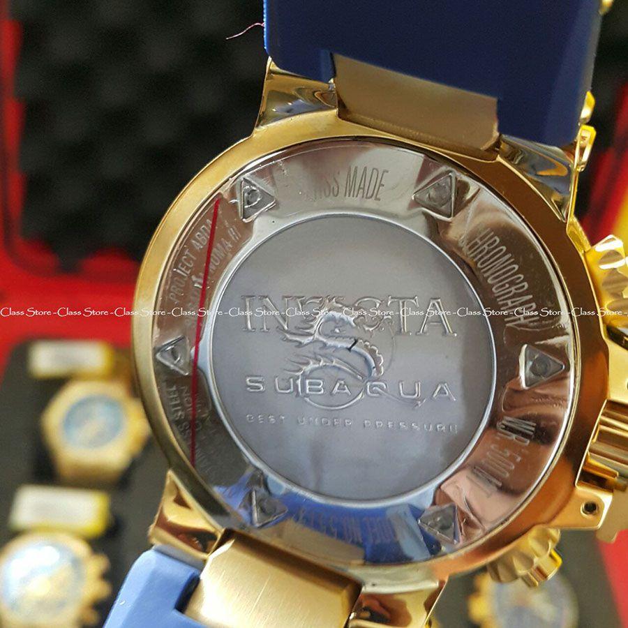 5c978b15796 ... Relógio Invicta Subaqua Noma 3 5515 Banhado Ouro 18k Original  Cronógrafo Suíço Azul - Imagem 4 ...