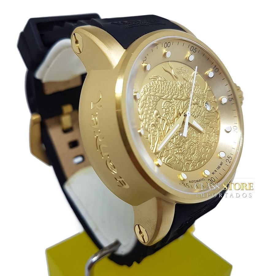 a368587a6c4 ... Relógio INVICTA 15863 S1 Rally Yakuza Automático Banhado a Ouro 18k -  Imagem 2 ...