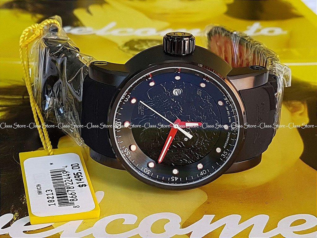 8f611729a3c ... Relógio INVICTA 18213 S1 Rally Yakuza Automático Preto - Imagem 2 ...